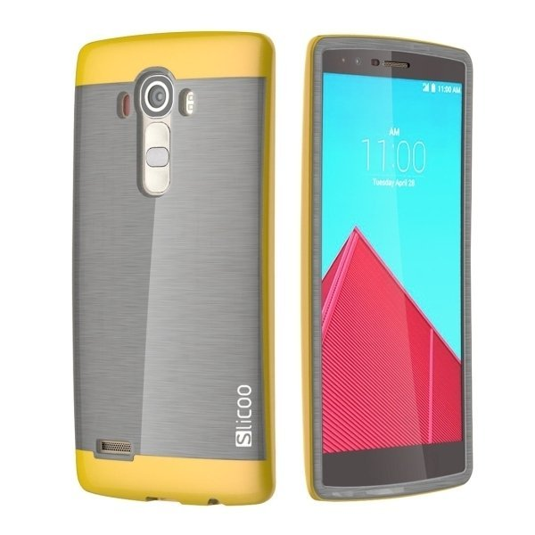 Slicoo TPU + PC Back Case for LG G4 / H815 (Yellow) (Intl)