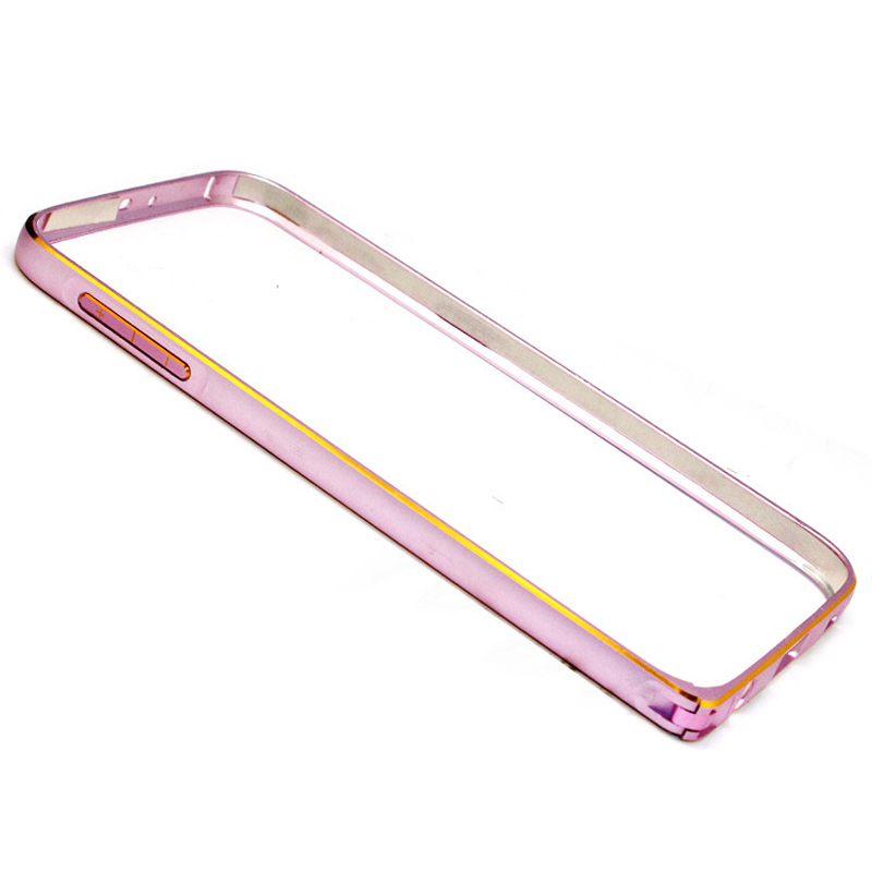 Slim Metal Aluminum Alloy Bumper Case for Samsung Galaxy S6 (Pink) (Intl)