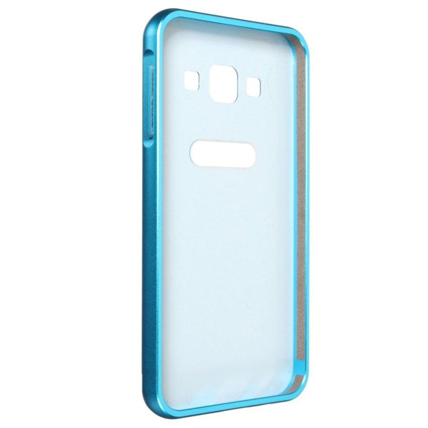 Slim Metal Aluminum Bumper PC Case for Samsung A3/5/78 S6 (Blue) (Intl)