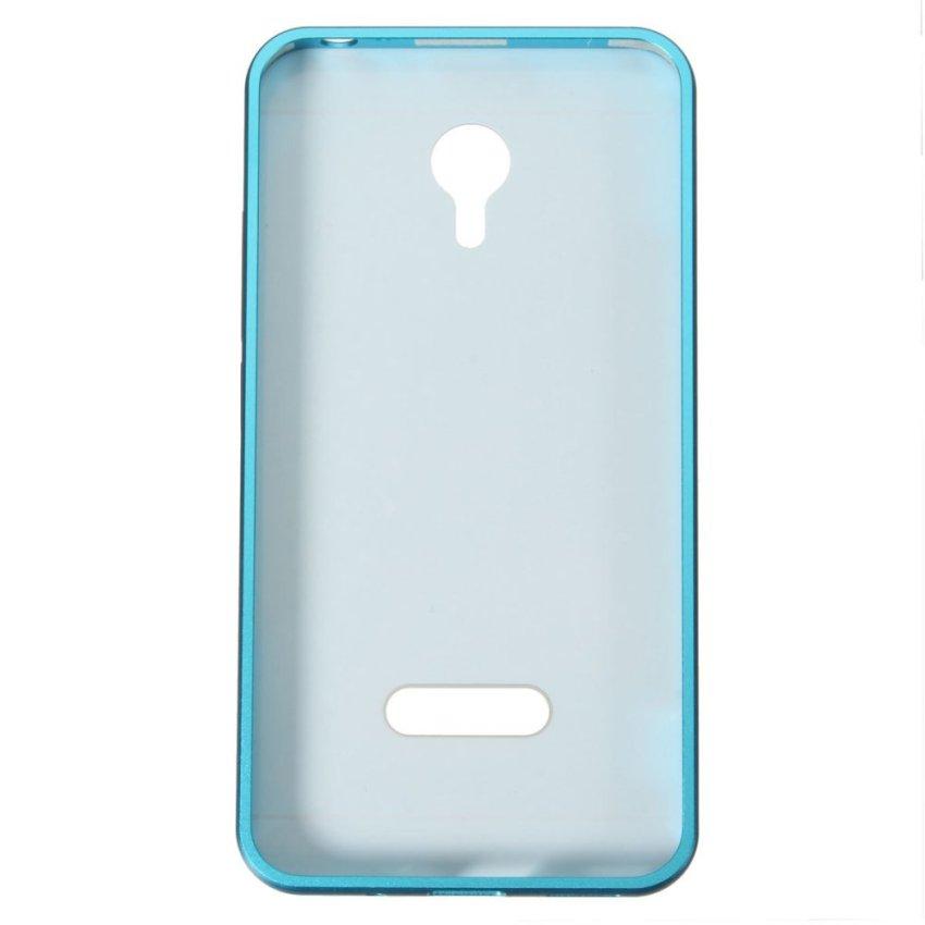 Slim Metal Frame Bumper PC Hard Back Cover Case for MEIZU MEILAN M2 Note (Blue) (Intl)