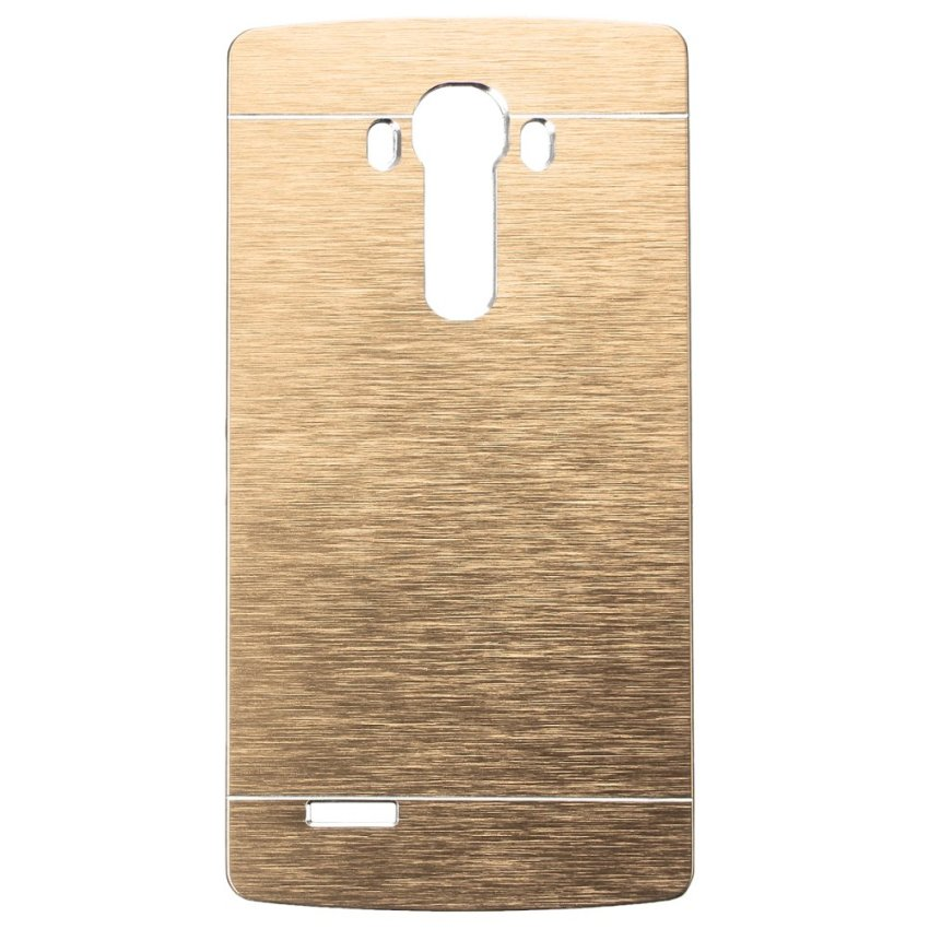 Slim Thin Hybrid Brush Metal Aluminum Shockproof Hard Case Cover for LG G2 G3 G4 (Gold) (Intl)