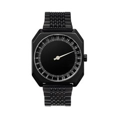 Slow Jo 03 - Swiss Made One-hand 24 Hour Watch - Black Steel (Intl)