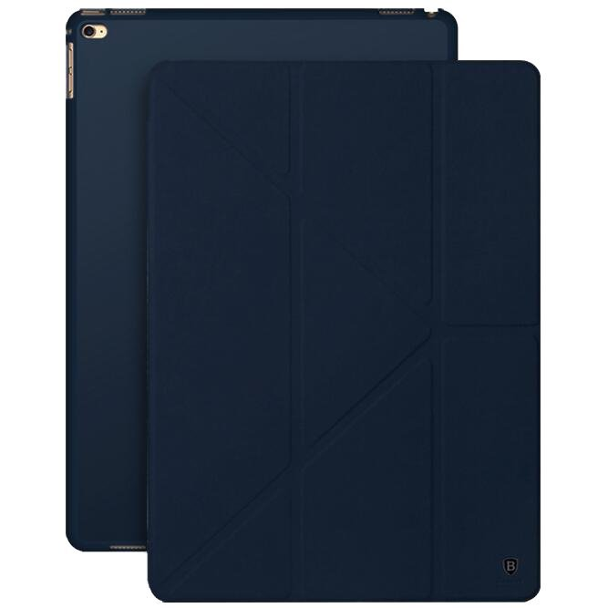 Smart Case Baseus Terse Series Stand Intelligent Flip PU Leather Case For Apple iPad Pro 12.9inch (Dark Blue) (Intl)