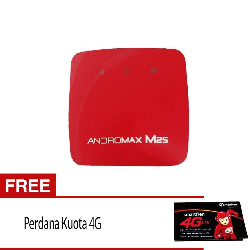 Smartfren Modem MiFi Andromax M2S - Merah + Gratis Perdana Kuota