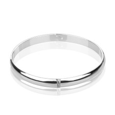 Smooth Bracelet (Colour: Width 8MM, Purity: Silver Plated Copper)