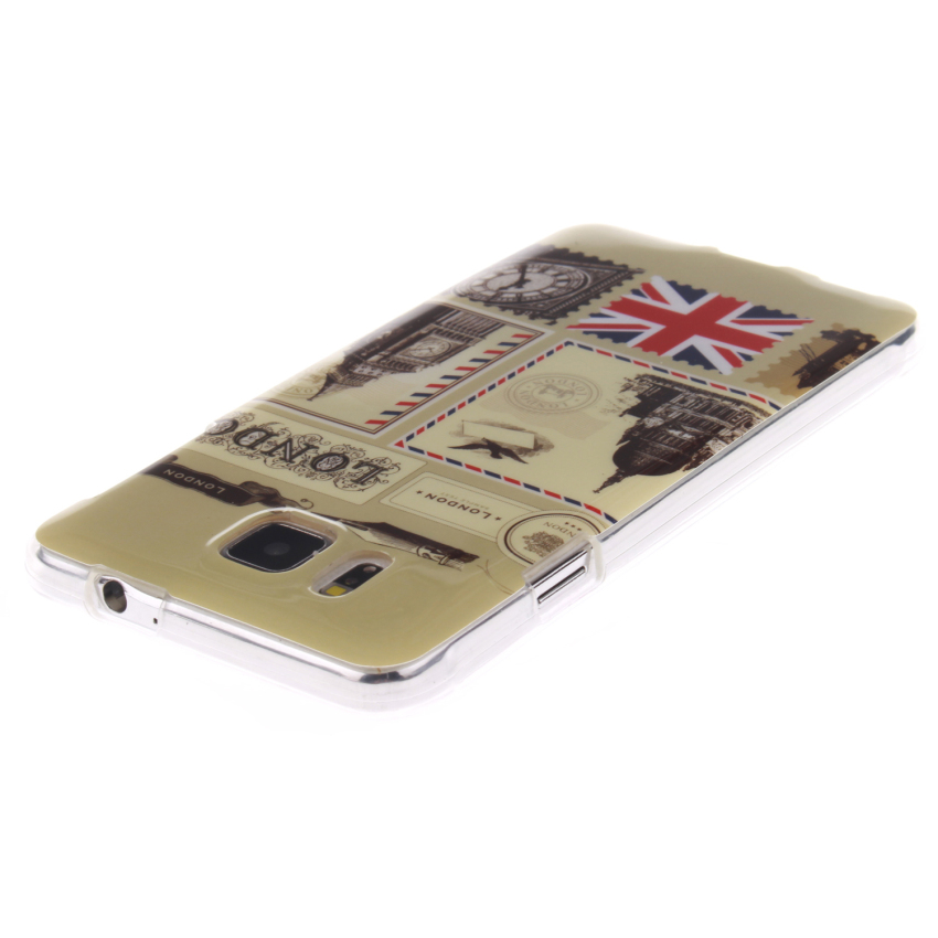 Soft TPU Back Cover With London Post Painting For Samsung Galaxy Alpha-Clear (Intl)
