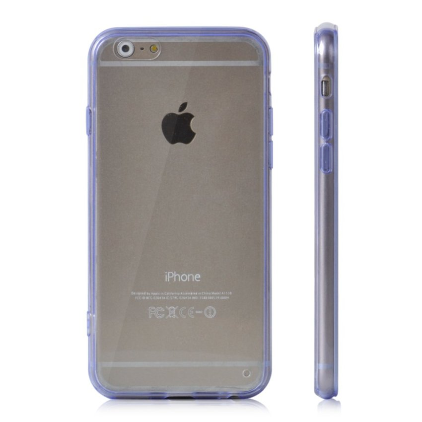 Soft TPU Gel Transparent Crystal Clear Invisible Case Cover for iPhone 5 5S (Purple) (Intl)
