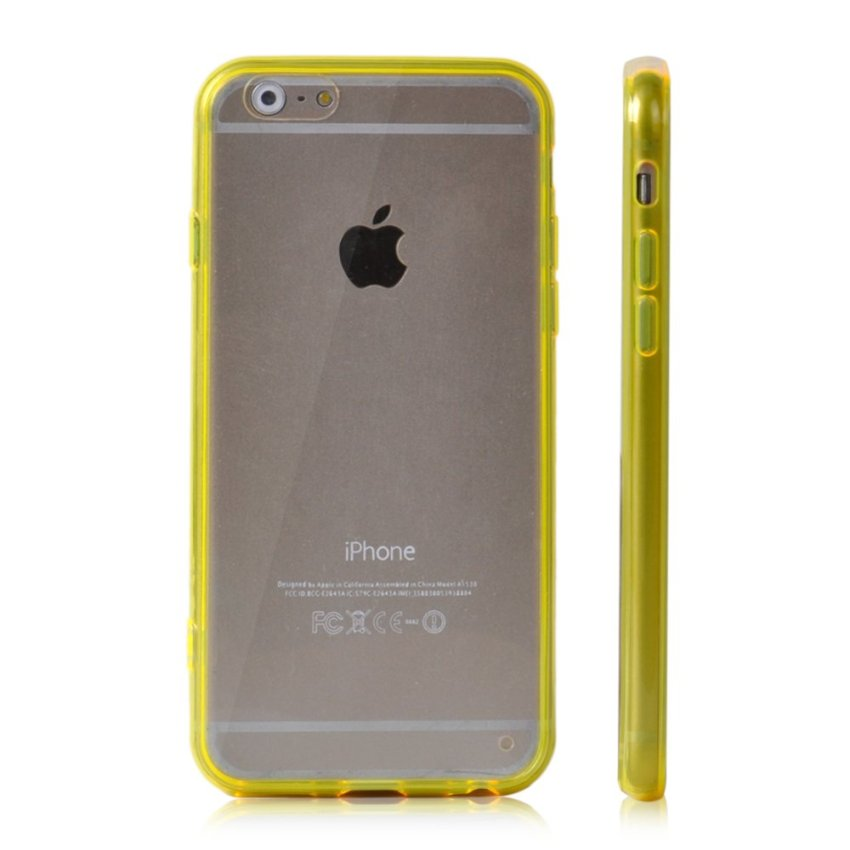 Soft TPU Gel Transparent Crystal Clear Invisible Case Cover for iPhone 5 5S (Yellow) (Intl)