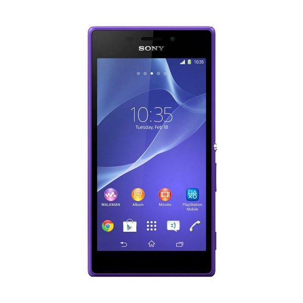 Sony M2 - D2305 - Single Sim - 8GB - Ungu