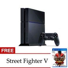 Sony PlayStation 4 Jet Black 500GB CUH 1206A - Hitam + Gratis Street Fighter V PS4