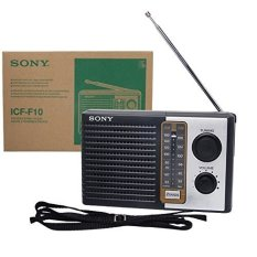 Sony Radio ICF-F10 AM FM Portable - Hitam