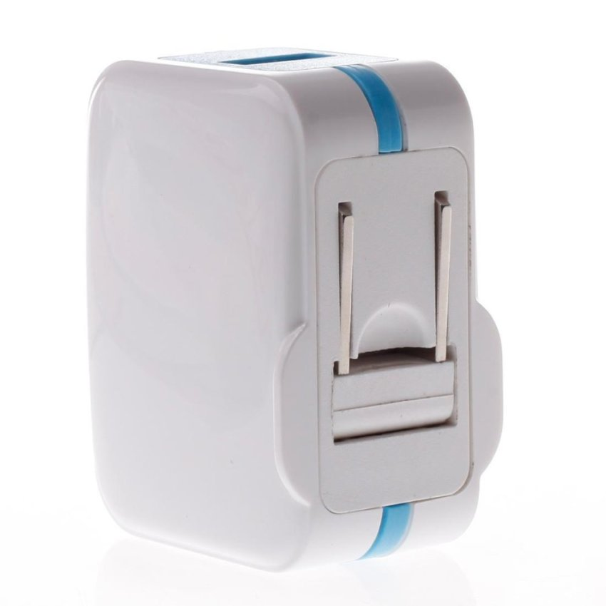 SOY Protable Travel Power Charger Adapter SOY3M-130 US Standard 5V 1A USB White with (Blue) (Intl)