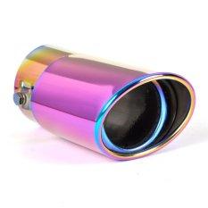 STRAIGHT Exhaust Muffler Tip Pipes Universal Stainless Steel Chrome Full Color 6cm Input (Intl)