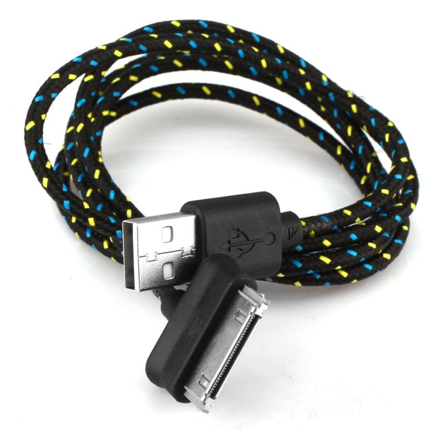 Strong Braided Usb Data Sync Charger Cable Black