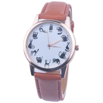Stylish Design And Simple Style Ladies Watch (Brown)