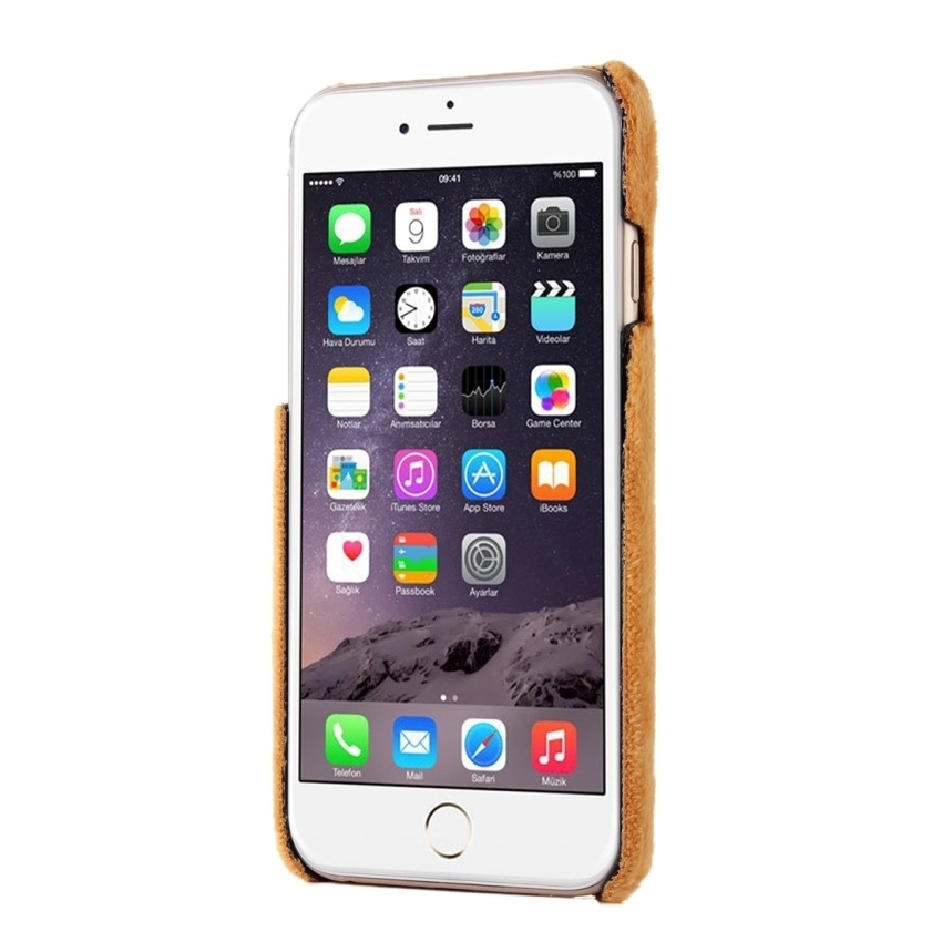 Stylish Solid Color Wistiti Hard Back Cover Protective Back Case for iPhone 6 Plus and 6s Plus(Brown) (Intl)