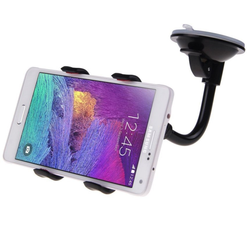 Suction Cup Car Windshield Mobile Phone Holder(Black) (Intl)