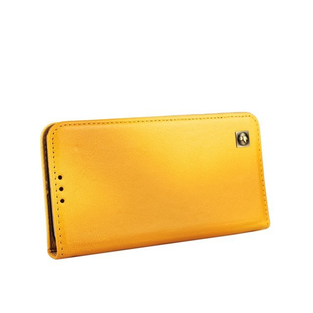 Suede Leather Purse Holster Cover for Samsung Galaxy S6 (Yellow)