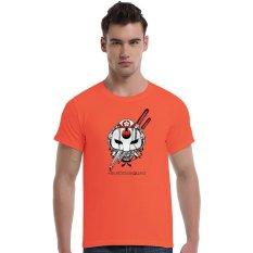 Suicide Squad Katana Cherry Blossoms Cotton Soft Men Short T-Shirt (Orange) - Intl