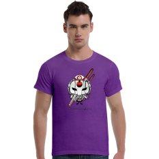 Suicide Squad Katana Cherry Blossoms Cotton Soft Men Short T-Shirt (Purple) - Intl