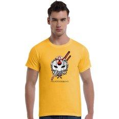 Suicide Squad Katana Cherry Blossoms Cotton Soft Men Short T-Shirt (Yellow) - Intl