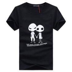 Summer Style T Shirt Men Fashion Slim Mens Short Sleeve Cotton Casual Men's T-shirt Hip Hop T Shirt Plus Size Black (Intl)