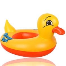Summer Swimming Kids Baby Inflatable Pool Seat Float Boat Floating Raft Swimming Ring Yellow Duck