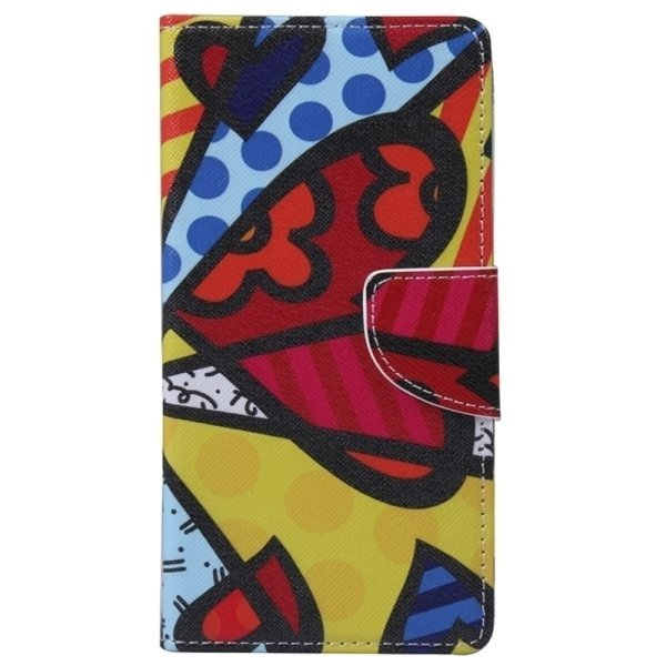 SUNSKY Abstract Pattern Horizontal Flip Leather Case with Holder Card Slots Wallet for Microsoft Lumia 950 (Multcolor) (Intl)