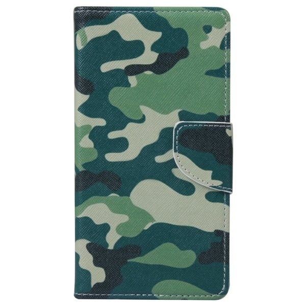 SUNSKY Camouflage Pattern Horizontal Flip Leather Case with Holder Card Slots Wallet for Microsoft Lumia 950 (Multicolor) (Intl)