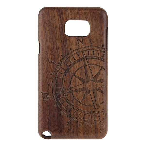 SUNSKY Compass Pattern Separable Wooden Back Case for Samsung Galaxy Note 5 / N920 (Brown) (Intl)