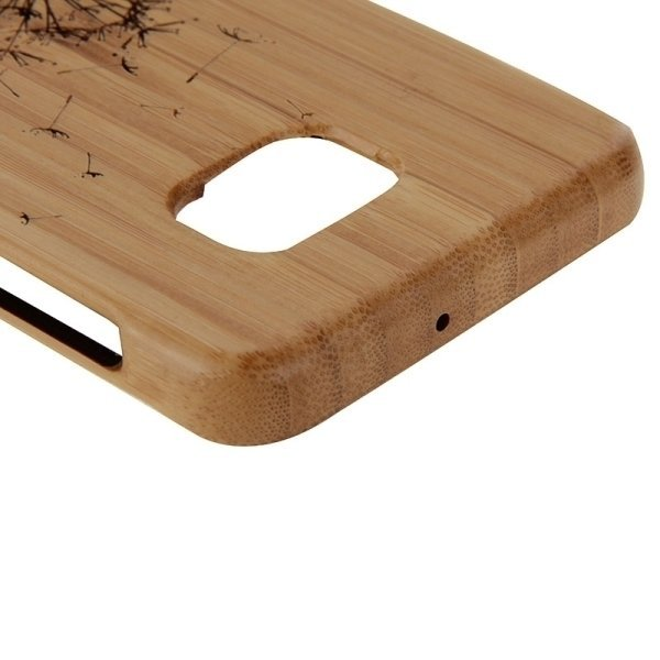SUNSKY Dandelion Pattern Separable Bamboo Wooden Back Case for Samsung Galaxy S6 edge+ / G928 (Brown) (Intl)