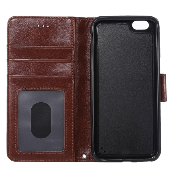 SUNSKY Flip Leather Cover for iPhone 6 Plus and 6s Plus (Brown) (Intl)