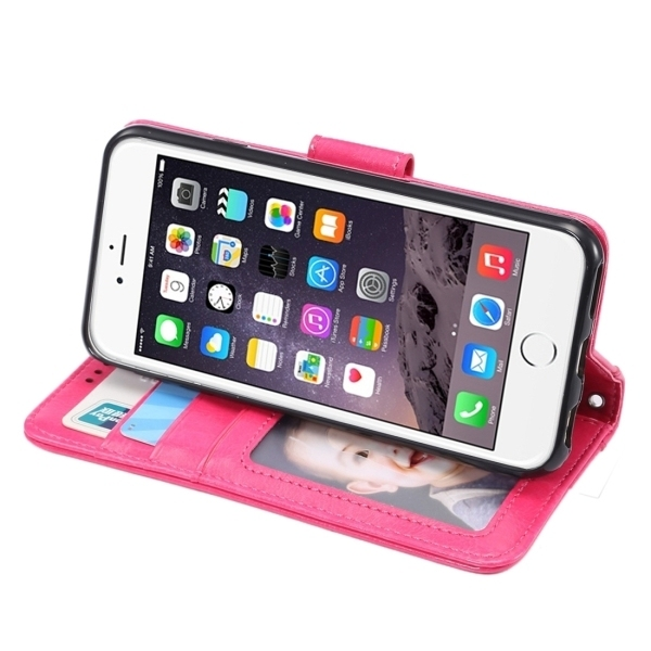 SUNSKY Flip Leather Cover for iPhone 6 Plus and 6s Plus (Pink) (Intl)