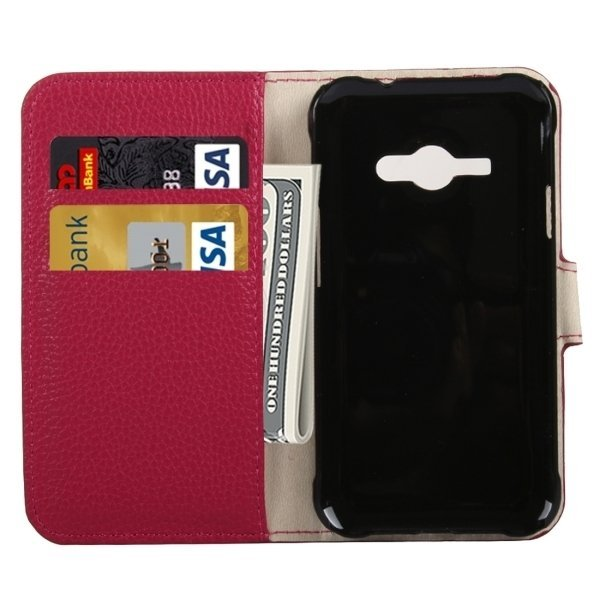 SUNSKY Flip Leather Cover for Samsung Galaxy J1 Ace / J110 (Pink) (Intl)