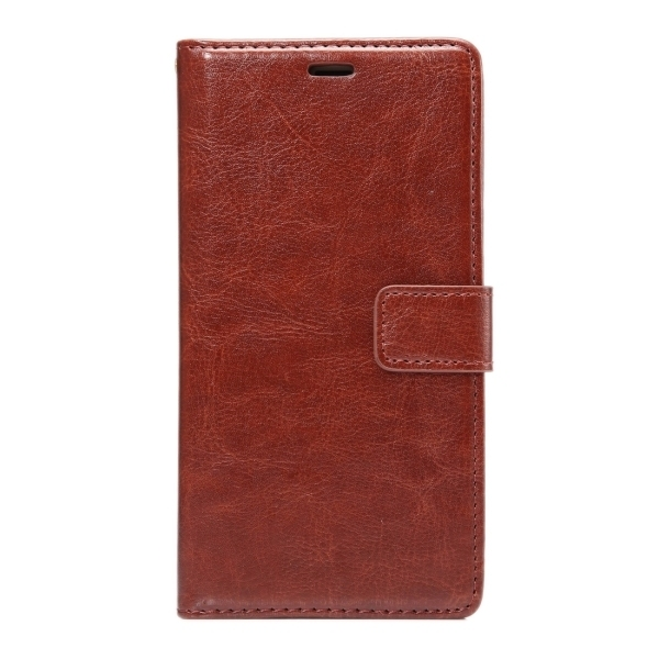SUNSKY Flip PU Leather PC Cover with Wallet Card Slots Holder for Xiaomi Redmi Note 3 (Coffee) (Intl)