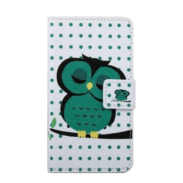 SUNSKY Owl in Deep Thought Patterns Flip Leather Cover for Samsung Galaxy J1 Ace / J110 (Multicolor) (Intl)
