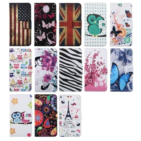 SUNSKY Owls Couple Patterns Flip Leather Cover for Samsung Galaxy J1 Ace / J110 (Multicolor) (Intl)