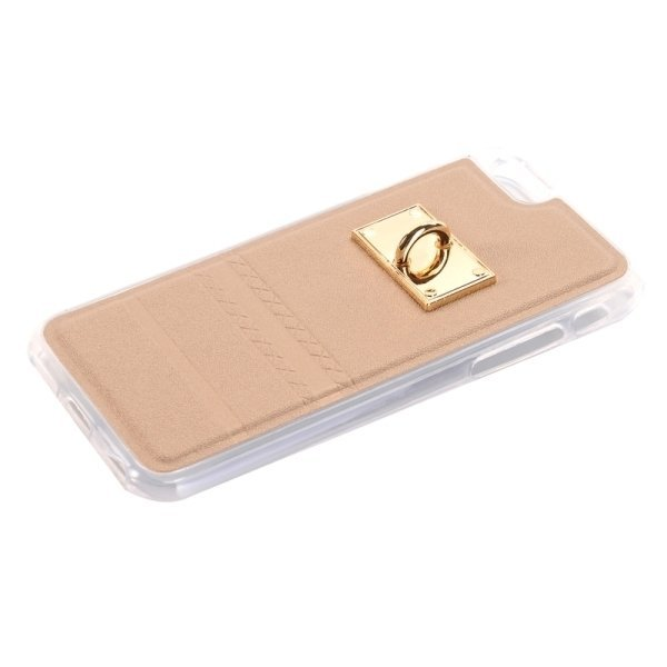 SUNSKY PU Paste Skin TPU Protective Back Case with Fox Pendant for iPhone 6/6s (Gold) (Intl)