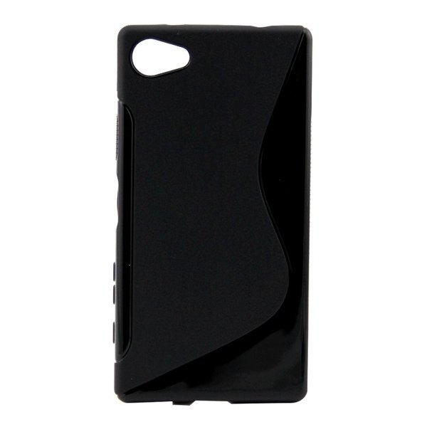SUNSKY S Line Anti-slip Frosted TPU Protective Case for Sony Xperia Z5 Compact (Black) (Intl)