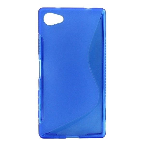 SUNSKY S Line Anti-slip Frosted TPU Protective Case for Sony Xperia Z5 Compact (Blue) (Intl)