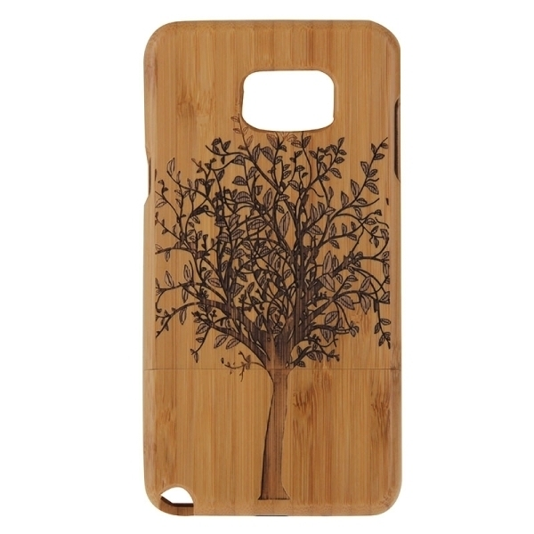 SUNSKY Tree Pattern Separable Bamboo Wooden Back Case for Samsung Galaxy Note 5 / N920 (Brown) (Intl)