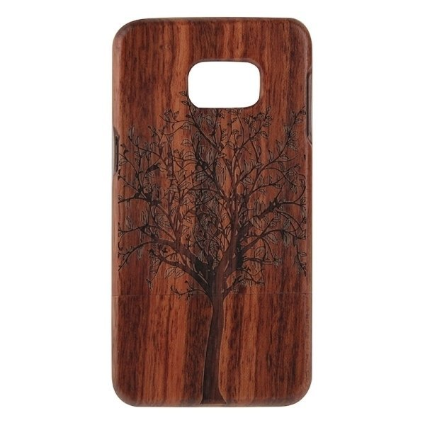 SUNSKY Tree Pattern Separable Sapele Wooden Back Case for Samsung Galaxy S6 edge+ / G928 (Brown) (Intl)