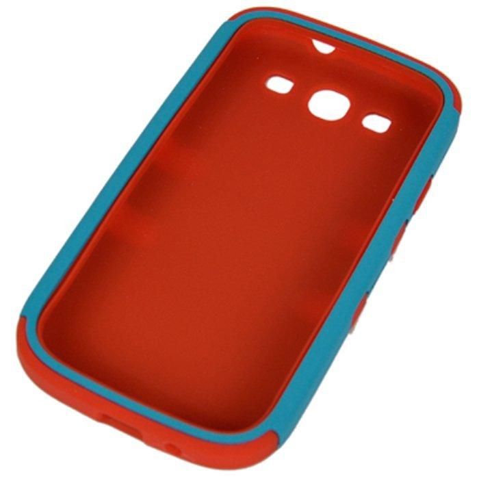 Sunweb Silicone Gel Layer Hybrid Hard Case for Samsung Galaxy S3 I9300 (Blue)