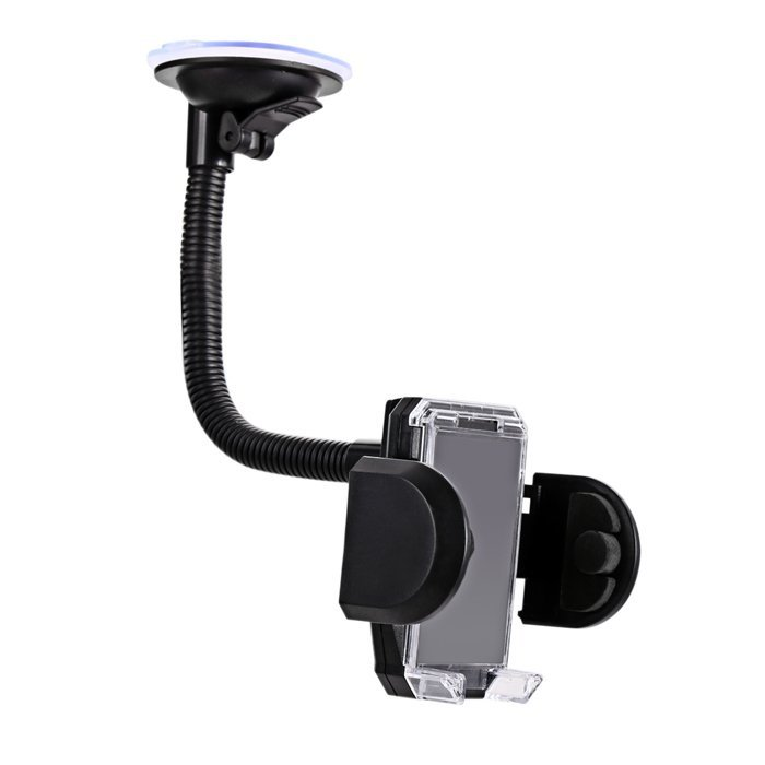 Sunweb Universal 360 Degree Car Mount Cell Mobile Phone Holder Bracket Stands With Usb Charger Adapter ( Black ) (Intl)