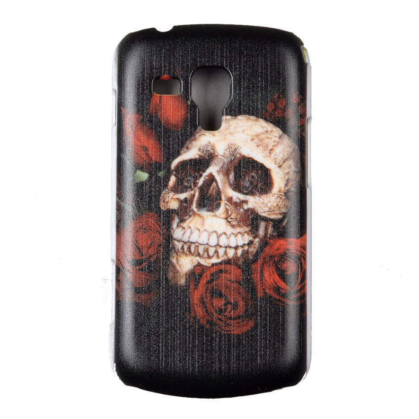 SuperCart Cool Rose and Skull Design Case Cover for Samsung Galaxy Trend Duos S7562 S7560 (Black) (Intl)