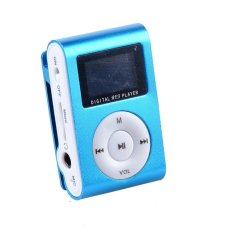 Supercart Mini Clip Mp3 Player Portable Digital Music Player with Screen (Blue) (Intl)