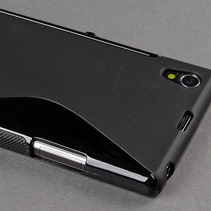 Supercart  Wave S-Line TPU Skin Case Protective for Sony Honami Xperia Z1 L39h (Black) (Intl)