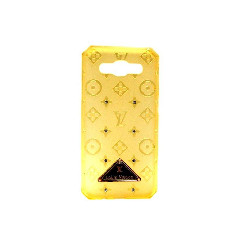 Swarovski LV Softcase for Samsung Galaxy E5 - Kuning