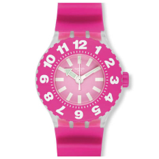 Swatch Men's SUUK113 - Jam Tangan Pria - Pink - Silicone