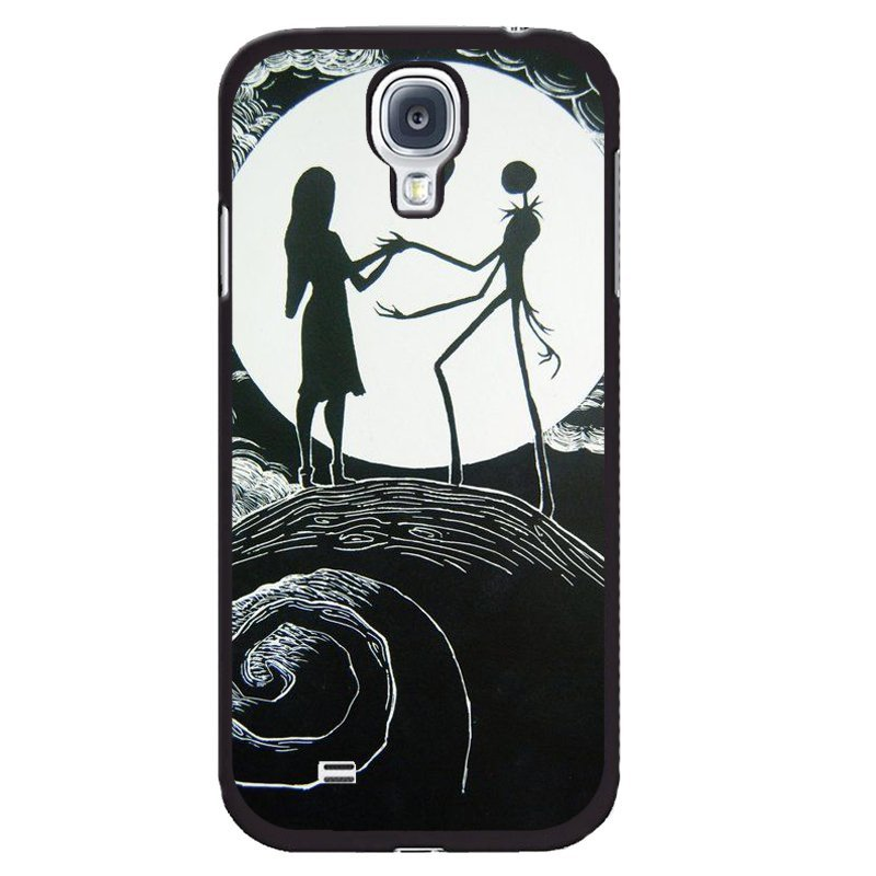 Sweet Lover On Moon Printed Phone Case for Samsung Galaxy Mega 6.3 (Black)